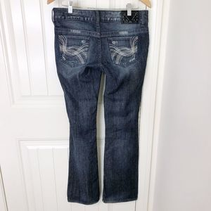 Guess Daredevil Bootcut Stretch Distressed Jeans